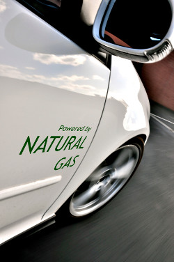 Natural gas vehicle (NGV) fuelled with compressed natural gas (CNG)